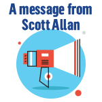 A message from Scott Allan button